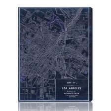 """Los Angeles 1899"" Graphic Art on Canvas"