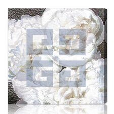 Dove White Graphic Canvas Art