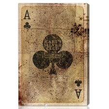 Ace of Clubs Graphic Art on Canvas