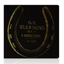 ''Gleasons Horse Shoe'' Vintage Advertisement on Canvas