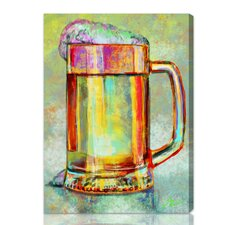 ''Beer Mug'' Painting Print on Canvas