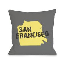 San Francisco City Silhouette Pillow