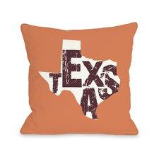 Texas State Type Pillow