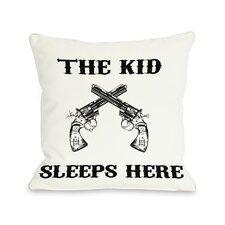 The Kid Sleeps Here Pillow