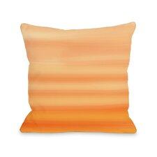 Tangerine Ombre Watercolors Pillow