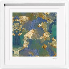 Turquoise Deco Framed Painting Print