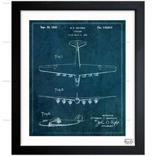 Airplane 1942 Framed Graphic Art