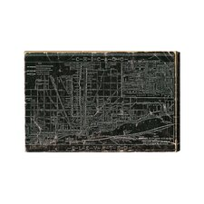 Chicago Railroad Graphic Canvas Art