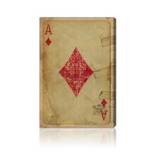 """Ace of Diamonds"" Canvas Wall Art"