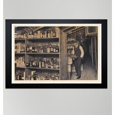 ''All those Old Bottles'' Framed Art Printed