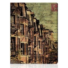 """Boston Brownstone"" Graphic Art on Canvas"