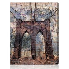 """Brooklyn Bridge"" Graphic Art on Canvas"