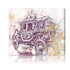 Charles X Carriage Canvas Wall Art