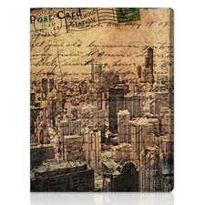 """Chicago Skyline"" Canvas Art Print"