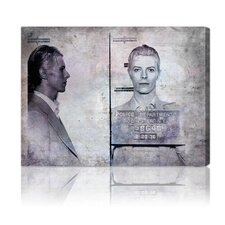 ''David Bowie Mugshot'' Canvas Art Print