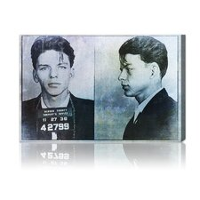 Frank Sinatra Mugshot Graphic Canvas Art