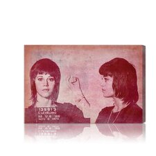 ''Jane Fonda Mugshot'' Canvas Art Print