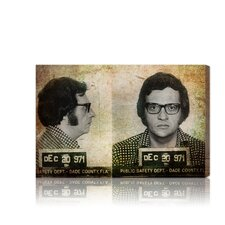 ''Larry King Mugshot'' Canvas Art Print