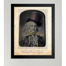 """Mad Hatter"" Framed Graphic Art"