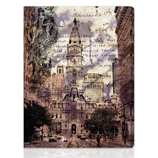 """Philadelphia Town Hall"" Graphic Art on Canvas"