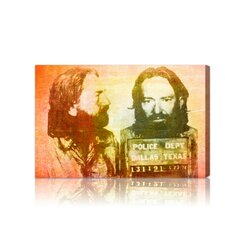 ''Willie Nelson Mugshot'' Canvas Art Print