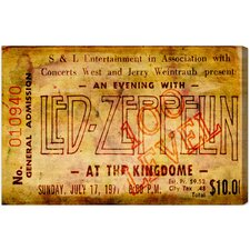 Led Zeppelin Concert Ticket Canvas Art