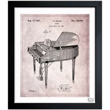Piano 1937 Framed Graphic Art
