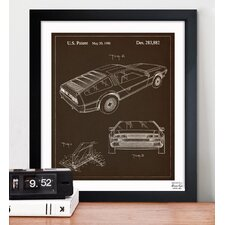 Delorean 1986 Framed Graphic Art