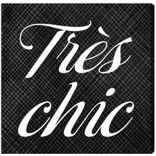 Tres Chic Canvas Wall Art