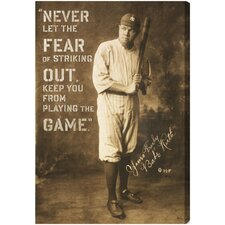 Babe Ruth Quote Textual on Canvas