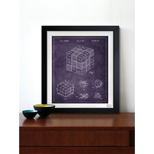 Spatial Logical Toy 1983 Framed Graphic Art