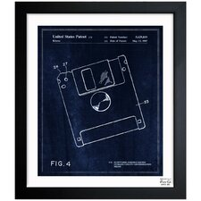 Floppy Disk 1997 Framed Graphic Art