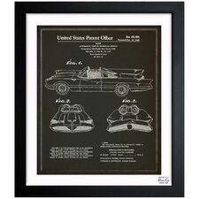 Batmobile 1966 Framed Graphic Art