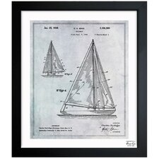 Sailboat 1938 Framed Graphic Art