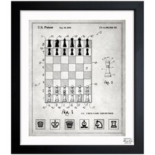 Chess Game and Method 2000 Framed Art
