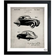 Design for an Automobile 1936 Framed Graphic Art