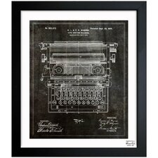 Type Writing Machine 1899 Framed Graphic Art