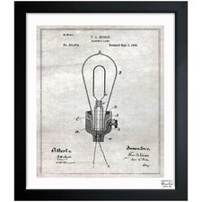 <strong>Oliver Gal</strong> Edison Electric Lamp 1882 Framed Art
