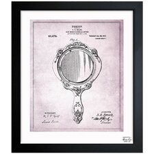 <strong>Oliver Gal</strong> Hand Mirror 1910 Framed Graphic Art