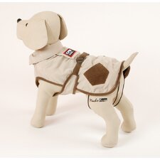 <strong>PetEgo</strong> Corduroy Hunter Dog Coat in Cream with Brown Pockets
