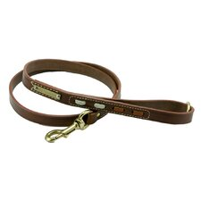 Classic Dog Leather Leash with Inserts