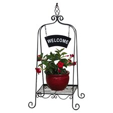 <strong>Evergreen Flag & Garden</strong> Welcome Plant Stand