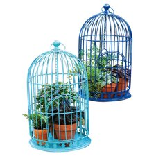 <strong>Evergreen Flag & Garden</strong> Bloom Birdcage Planter (Set of 2)