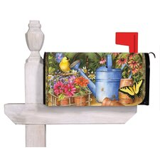 Watering Can Floral Magnetic Mailbox Cover