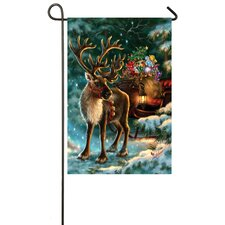 Enchanted Christmas Reinder Garden Flag