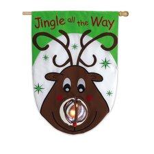 Jingle All The Way Applique Garden Flag