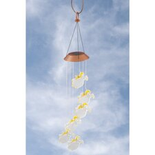"""When Angels Fly"" Solar Color Changing Mobile Wind Chime"
