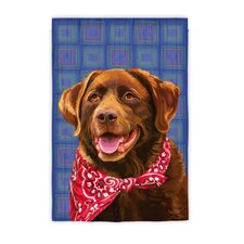 Chocolate Lab Garden Flag