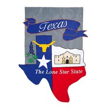 <strong>Evergreen Flag & Garden</strong> Texas 2-Sided Garden Flag