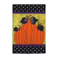 Whimsy Pumpkins Garden Flag
